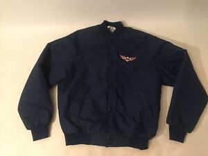 Details About Mens Vintage Jacket Garage Urban Outfitters Style Eagle Patch Asian Back Small