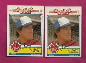2-X-1984-TOPPS-MILTON-BRADLEY-EXPOS-GARY-CARTER-NRMT-CARD-INV-A4233