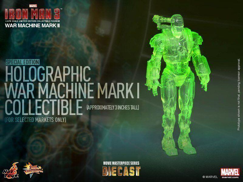 Hot Toys 1 6 Iron Man 3 MMS198D03 Diecast máquina de guerra Mark II Edición Especial