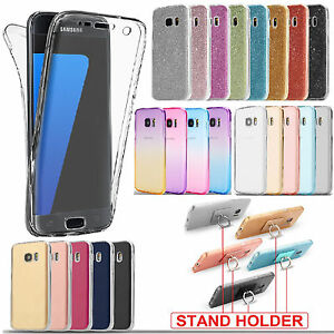 Shockproof-360-Holder-Clear-Gel-Case-Cover-For-Samsung-Galaxy-A3-A5-2016-2017
