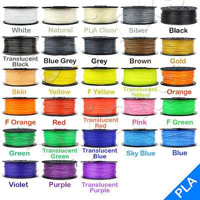 3D Printer Filament 1.75mm 3mm ABS/PLA 1kg/2.2lb RepRap MarkerBot 30+ Colors