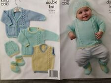 6756762c9995 King Cole Baby Sweater Cardigans Trousers Knitting Pattern DK 10-22 ...