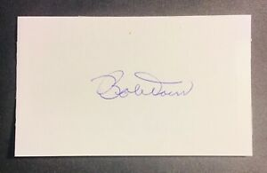 Boston Red Sox  Hall of Fame Bobby Doerr (dec) auto autographed signed 3x5 Card