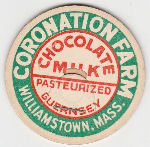 MA CORONATION FARM MILK BOTTLE CAP DAIRY WILLIAMSTOWN