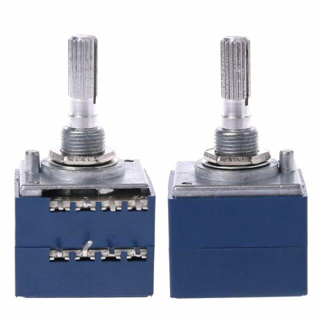 8 Pin Potentiometer RH2702 Serrated Split Shaft 6MM Precision 27-type A100K 100K