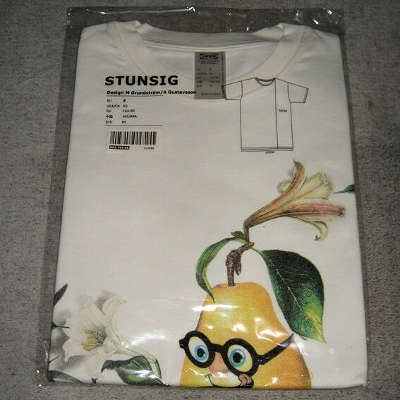 IKEA · STUNSIG · T-Shirt · limitierte Collection · Birne · Gr. S · NEU