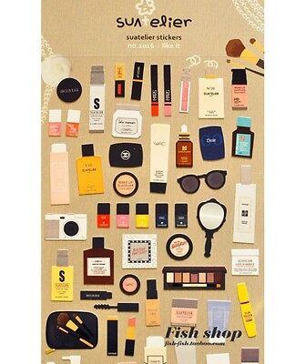 Lindo Cosméticos Maquillaje Pintalabios Fundación lámina pegatinas álbum