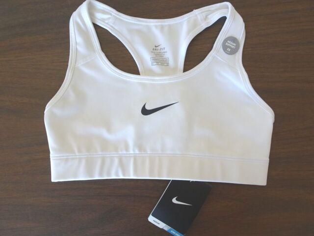 New  - Women's NIKE Dri-Fit Sports Bra - WHITE - XS