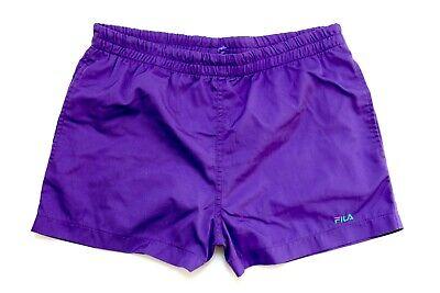 Fila 90er Vintage Shorts Viola Taglia 50 Sport Sport Pantaloni Pantaloni Corti As11-mostra Il Titolo Originale