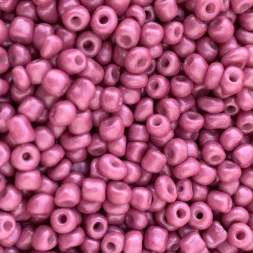 glamour-pink Glasperlen 25 g 42585 4mm Rocailles MiPerla