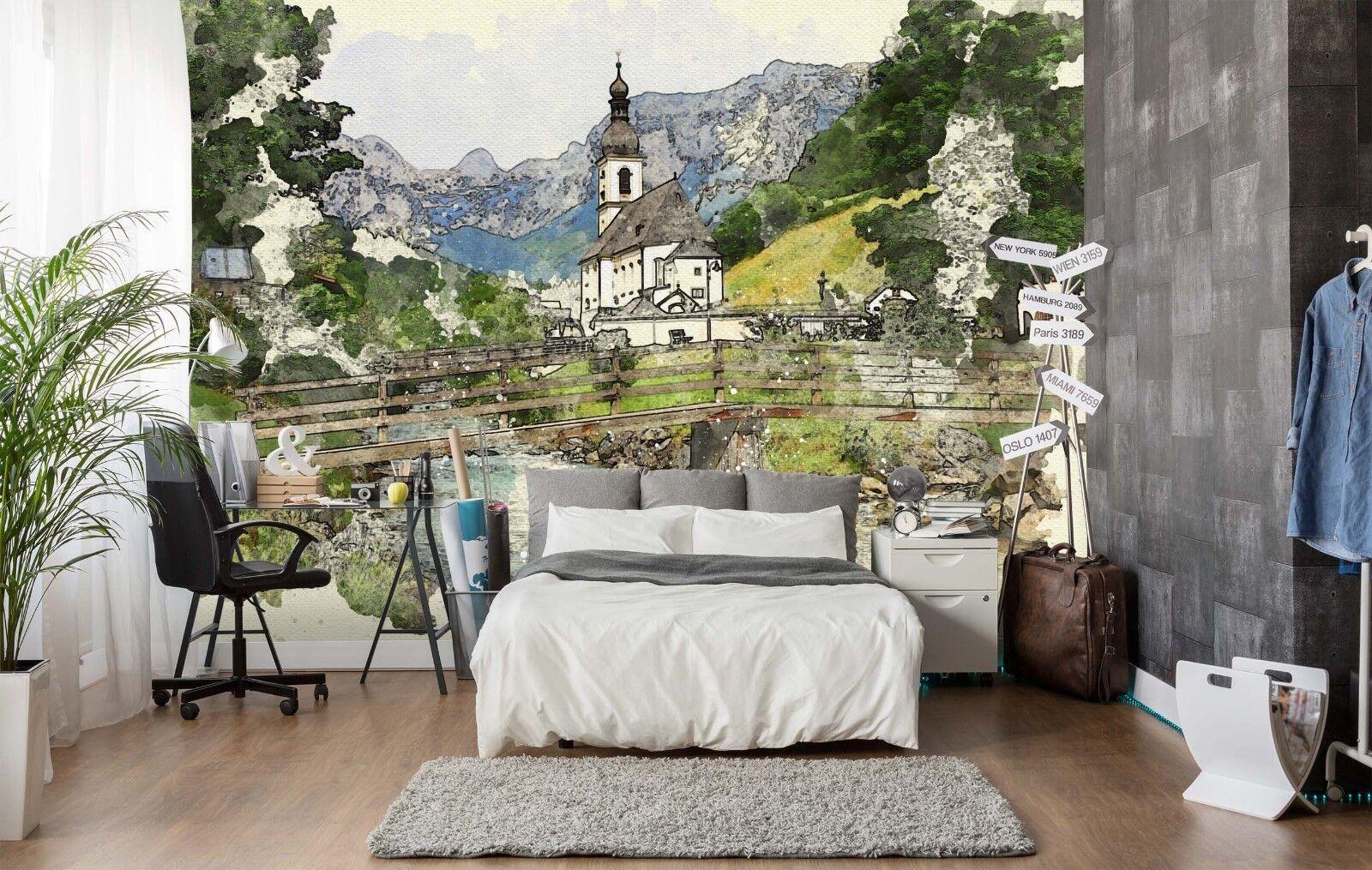 3D Feld Berge Natur 710 710 710 Tapete Wandgemälde Tapete Tapeten Bild Familie DE Sidney bc5e3c
