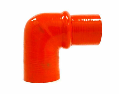 """Black Universal 90° 2.25/""""-2.5/"""" Silicone Reinforced Elbow Reducer w//Hump by OBX-R"""