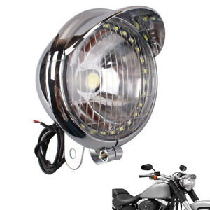 27-LED-Luz-Antiniebla-Faro-De-Motocicleta-Bombilla-Spot-Para-Harley-Custom-Chopper