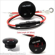 Waterproof DC 12V Red LED Car Truck Boat Voltmeter Digital Display Voltage Meter