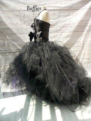 womens tutu skirt tulle black burgundy wedding steampunk adult maxi gothic gypsy