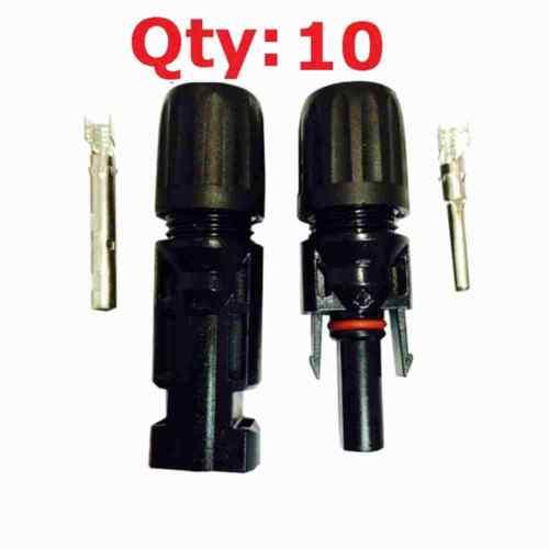 10 Paires Mâle Femelle Panneau Solaire PV Câble Connecteurs Jonction Ku