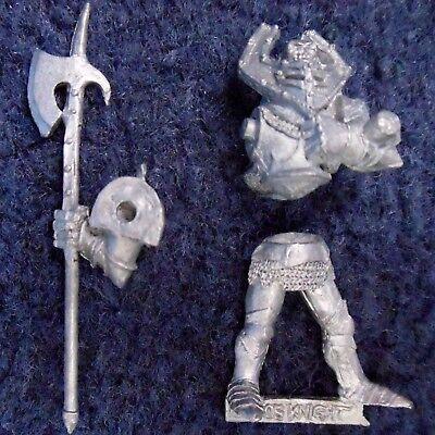 1989 Guerriero Del Caos V2 Games Workshop Cittadella Champion Warhammer Cavaliere Alabarda-mostra Il Titolo Originale