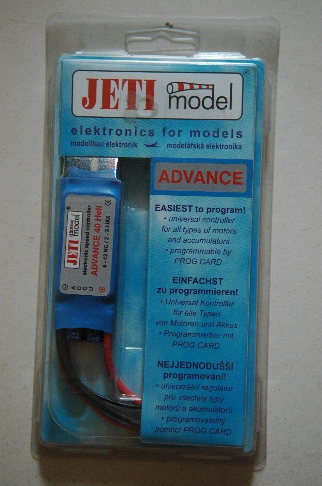 Jeti modelll Advance 40 Heli Electronic Speed Control