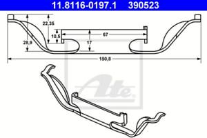 Feder Bremssattel für Bremsanlage Vorderachse ATE 11.8116-0197.1