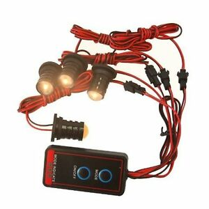 led amber headlight emergency car flash strobe light warning lamp kit. Black Bedroom Furniture Sets. Home Design Ideas