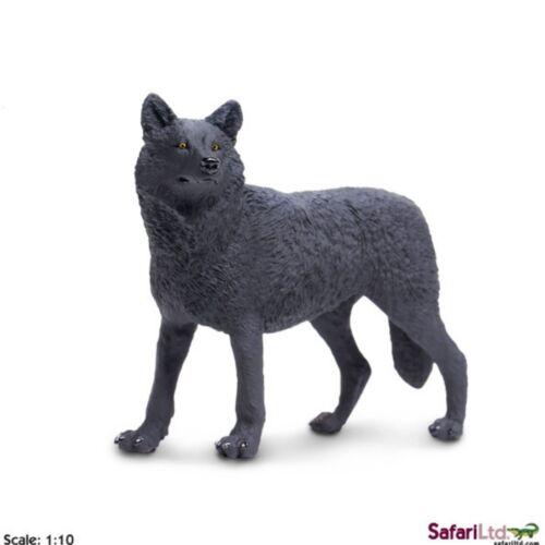 Lobo Negro 12 cm serie animales salvajes Safari Ltd 112989