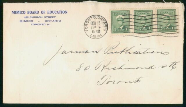 Mayfairstamps Canada 1949 Mimico Board Edu King George VI Block Cover wwm_95523