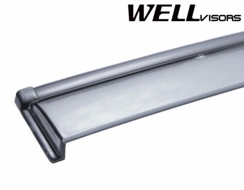WellVisors Side Window Visors Deflectors Black Trim For 13-19 Nissan Sentra