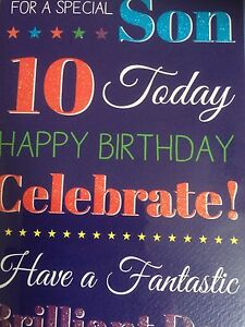 Son 10th Birthday Card 5034695779205 eBay