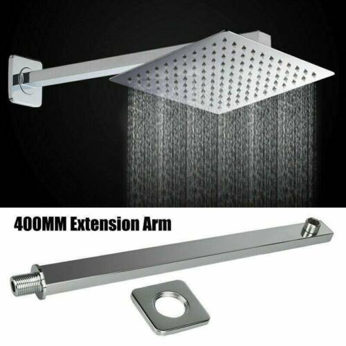 16-inch Wall Mounted Stainless Steel Square Rainfall Shower Head Extension Arm