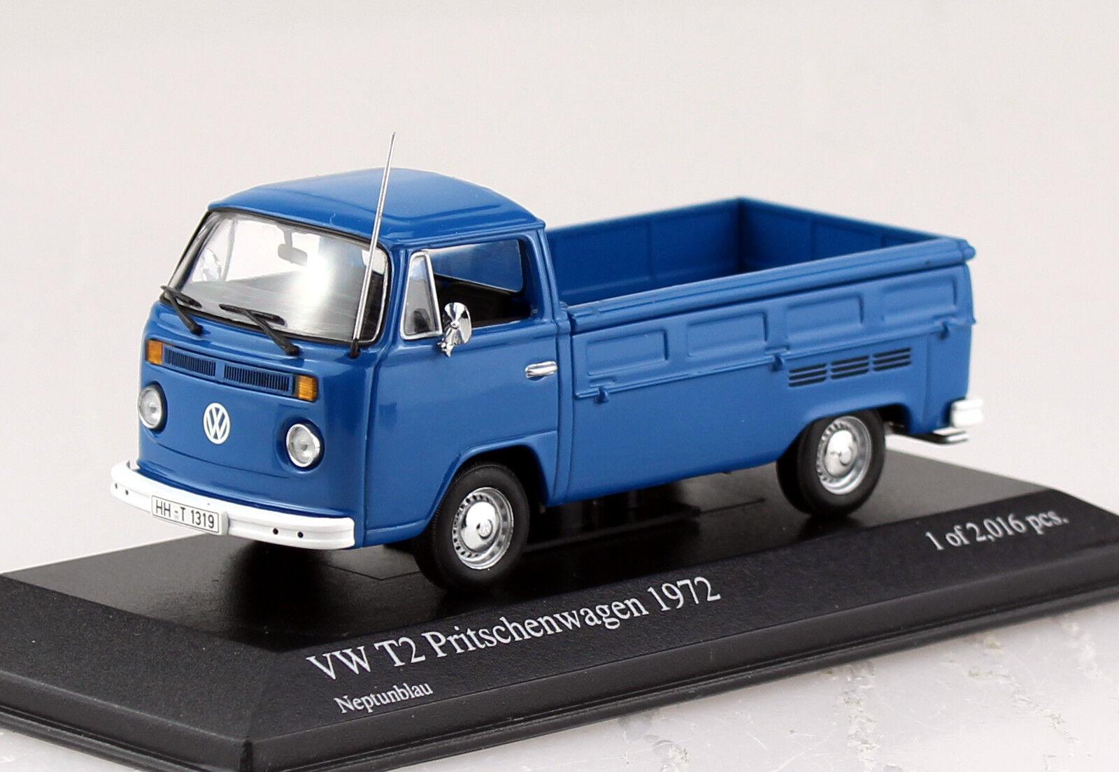VW t2 camastro azul 1972 1 43 Minichamps maqueta de coche