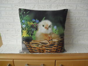 Ostern Sofabett Wohndeko Festival Kissen Hülle Kissenbezug Kaninchen 45x45cm