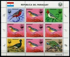 PARAGUAY 1985 Vögel Birds Audubon Uccelli Oiseaux 3869 Kleinbogen ** MNH