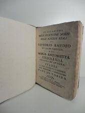 In occasione delle felicissime nozze delle Alt. Reali di Vittorio..Soresi,1750