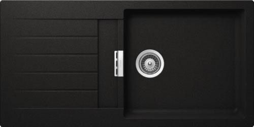 Nero Cristalite+ Unterschrank 60 cm SCHOCK Einbauspüle PRIMUS D-100L-A Montag