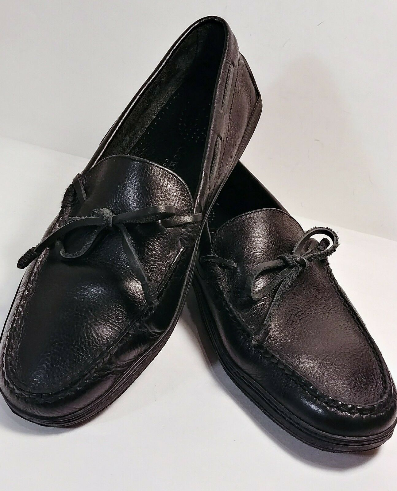 Cole Haan Black Leather Slip-On Moccasin Driving Loafers Men's Size 10 M *XLNT*