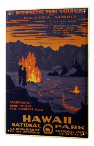 Tin Sign Holiday Travel Agency National Park Hawaii