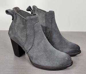 9a98fc319c3 UGG 'Cobie II' Block Heel Bootie, Grey Suede, Womens Size 6 / 37 | eBay