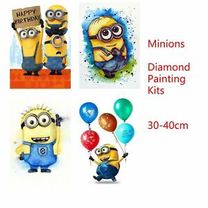 Minions 5D DIY Round Full Drill Diamond Painting Embroidery Cross Stitch Kits