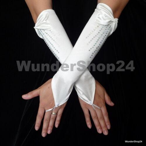 hellbeige  Neu Brauthandschuhe zum Hochzeit  Abendkleid Fingerlos Creme