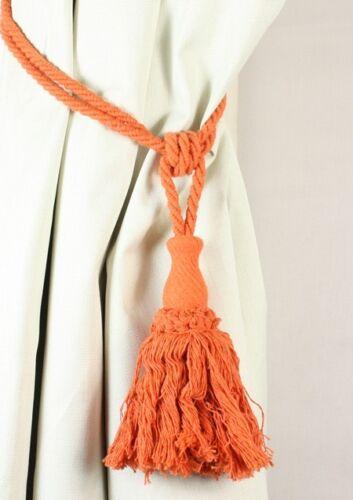 """Paire de terre cuite tassel curtain tiebacks 60cm 24/"""""""