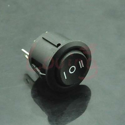 1pcs Mini Black 3 Pin Snap-in On Off Toggle Car Auto Round Rocker Switch