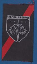 Croatian army, CAF SPECIAL FORCES, OS RH VIRIBUS UNITIS, old vintage patch, rare