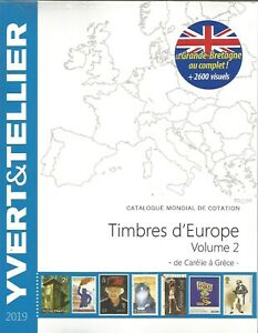 YVERT-amp-TELLIER-2019-EUROPE-TOME-2-C-a-G-SPECIAL-ANGLETERRE