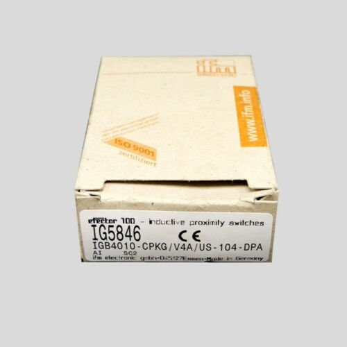 100/% NEW IFM Efector IG5846 in box