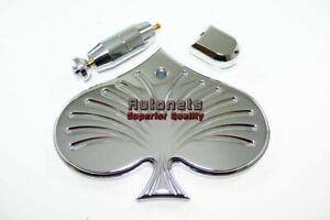 Universal Custom Hot Rat Street Rod Pirate Mfg Chrome Aluminum Rear View Spade Mirror