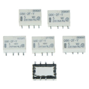 5PCS-DC-5V-SMD-G6K-2F-Y-Signal-Relay-8PIN-for-Omron-Relay-OT