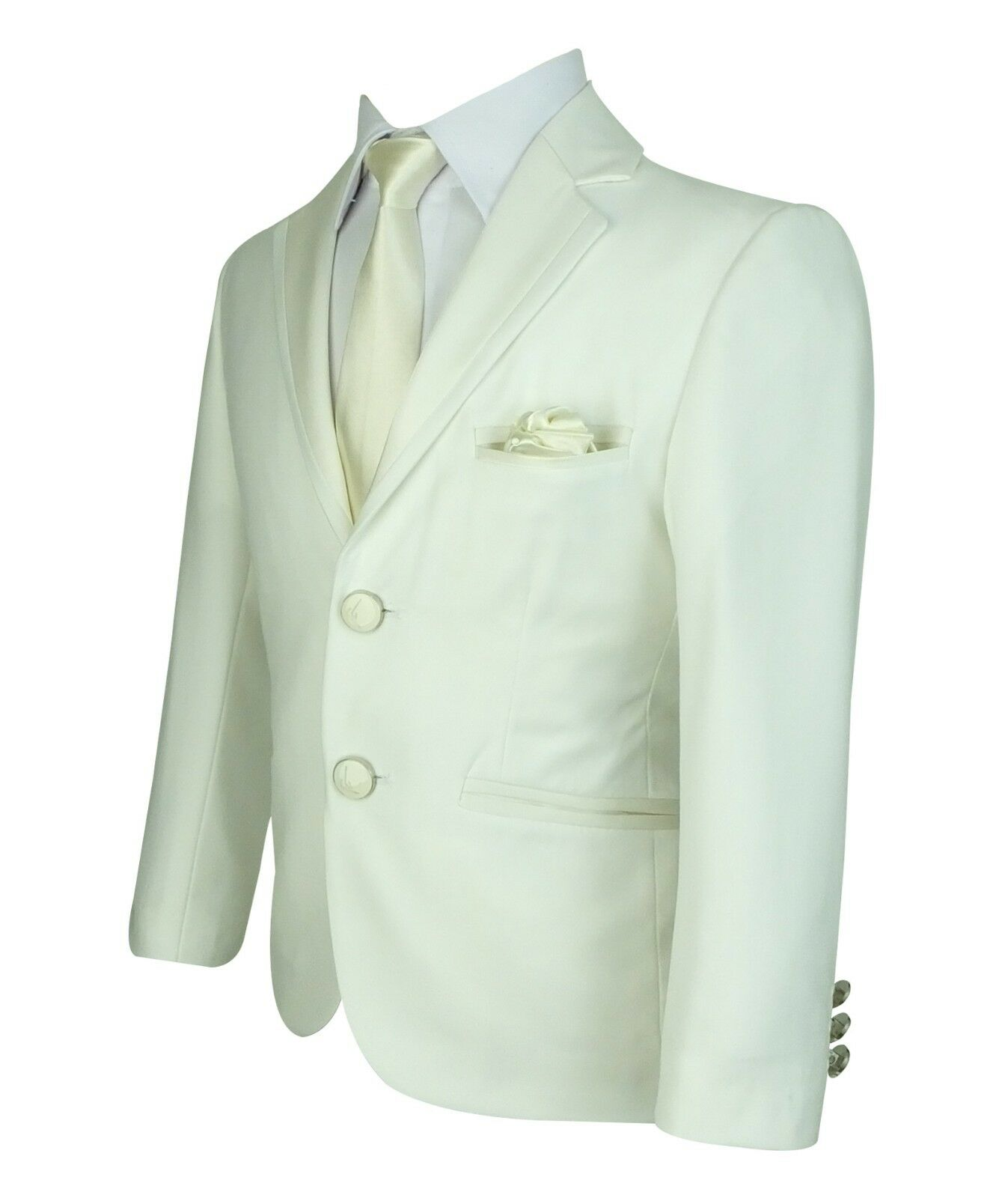 Kids Pageboy Ivory Formal Communion Suits Boys Off-White Slim Fit Suit Sirri