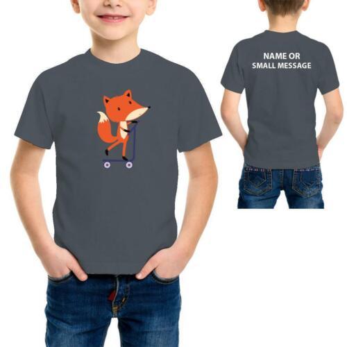 Scooter Fox Cartoon Enfants Garçons Drôle Cool T-Shirt Imprimé