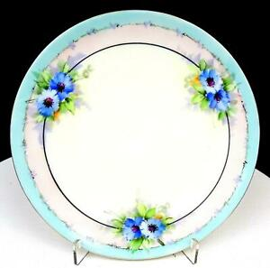 NIPPON-JAPAN-BLUE-FLORAL-WITH-PASTEL-PINK-AND-BLUE-BANDS-7-5-8-034-SIDE-PLATE