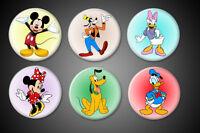 Mickey Mouse Pins Set Disney Minnie Mouse Goofy Donald Duck Daisy Pluto Pinbacks